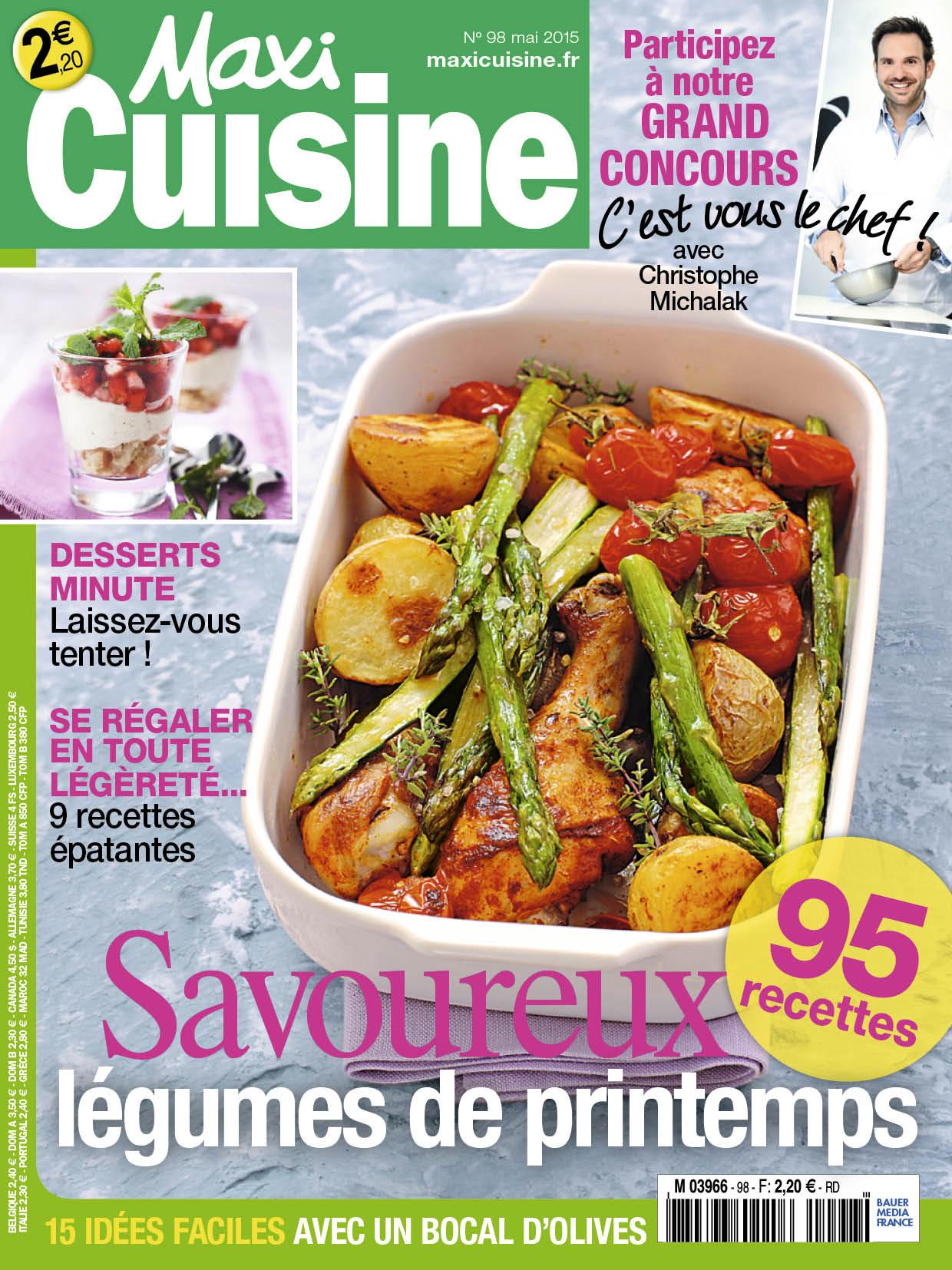 Recette Maxi Cuisine | Maxi Cuisine Et Son Hors Serie Fetent Les Beaux Jours Bauer