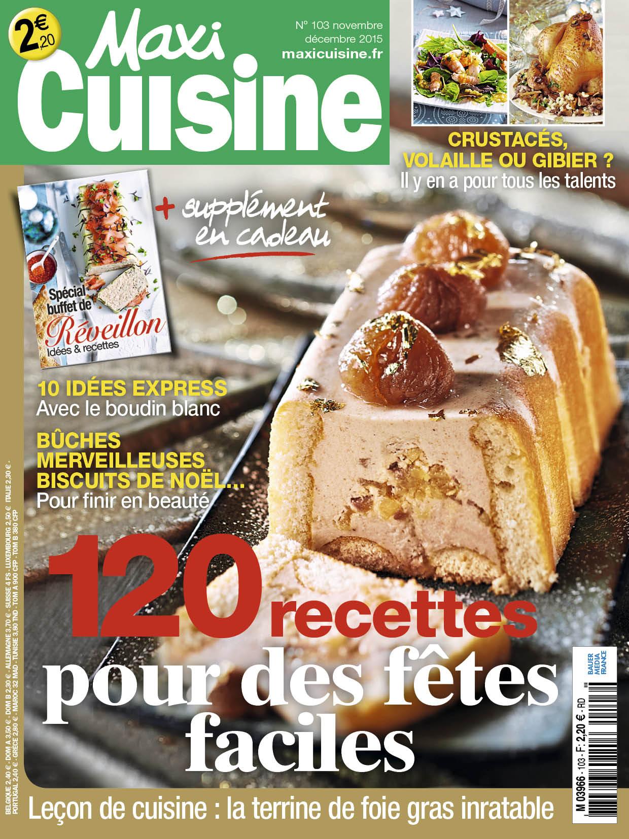 R veillons la carte avec maxi cuisine bauer media france for Cuisine a la carte